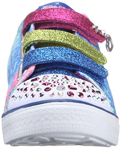 Skechers Mädchen Twinkle Breeze Silly Me Sneaker Blau - Bleu (Blhp Bleu/Rose Foncé)