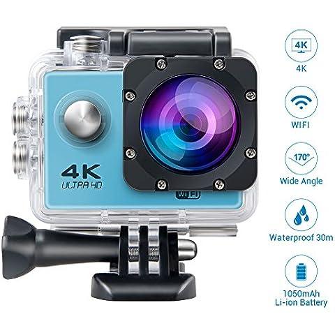 Topjoy F60 4K Ultra 1080p HD sport fotocamera WIFI impermeabile Sport fotocamera azione con 2.0 pollici LCD Display e 170 gradi grandangolare