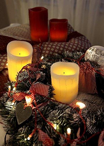 LED velas de cera de 10 cm, velas marfil, vacilante