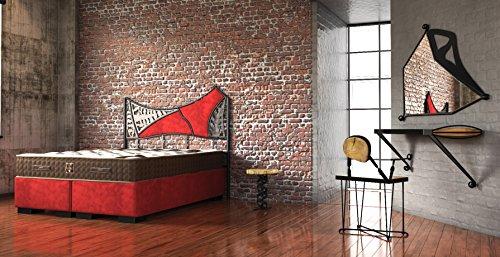 Schlichter Möbel Boxspringbett Industrial Design Set III UNIKAT