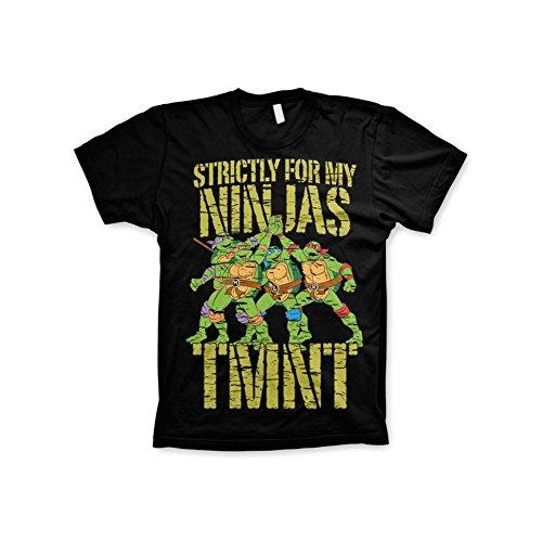 Offizielles TMNT - Strictly For My Ninjas 3XL,4XL,5XL Herren T-Shirt (Schwarz) Schwarz