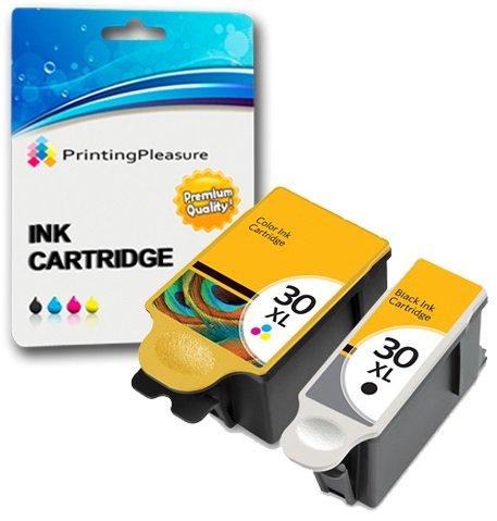 2 XL Compatibles Kodak 30XL 30B & 30CL Cartuchos tinta