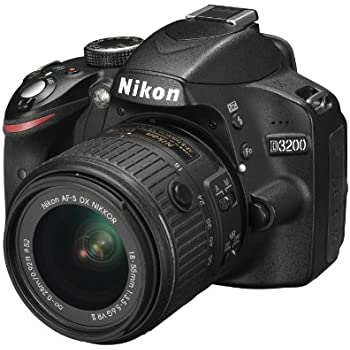 Nikon D3200 Kit 18-55VRII Fotocamera Reflex, Nero, Lega di Magnesio, Obiettivi Inclusi 1, AF DX / AF-S DX
