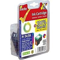 Inkrite Cartridge (HP 343) for HP PSC 1500 1610 Deskjet 5740 Photosmart C3180 - C8766E Clr (Reman)