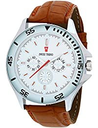 SWISS TREND Analogue White Dial Men's Watch -ST-18