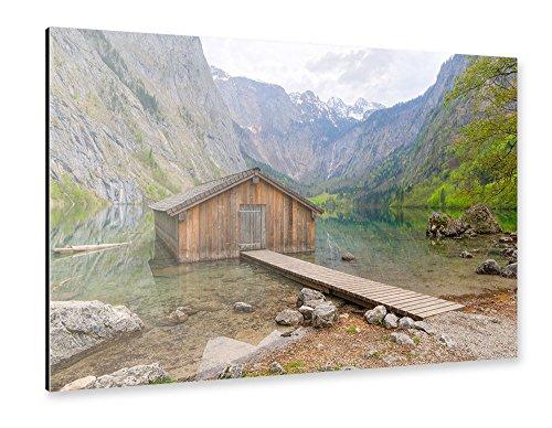 artboxone-alu-print-150x100-cm-natur-reise-obersee-braun-hochwertiges-alu-dibond-bild-wandbild-natur