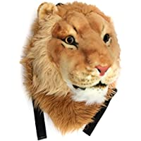 VIAHART Authentic Tigerdome Lion Animal Head Backpack Bag Knapsack and Wall Mount