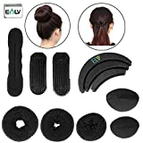 Elv Hair Styling Accessories Kit (Black) - Pack of 7 Pieces
