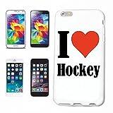 Handyhülle iPhone 6 I Love Hockey Hardcase Schutzhülle Handycover Smart Cover für Apple iPhone … in Weiß … Schlank und schön, das ist unser HardCase. Das Case Wird mit Einem klick auf deinem Smartpho