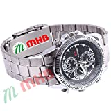 M MHB Wrist watch Hidden Recording While recording no light Flashes. Still Wrist Watch Camera Inbuild 4GB Memory . Original Brand Only Sold by M MHB .
