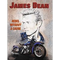 James Dean - Rebel sin un causa. Motor cycle / bicicleta. Icon de plateado pantalla, peliculas y Hollywood. Para el hogar, cine, pub, bar, restaurante, ...