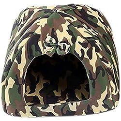 Qianle cojín suave y extraíble cama casita de perro cachorro mascota nido yurta