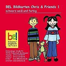 Learning English with Chris & Friends Bildkarten CD-ROM 1: schwarz-weiß und farbig - passend zu Workbook 1