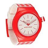 Wize & Ope SH-OP-1 - Reloj analógico de cuarzo unisex, correa de plástico color rojo