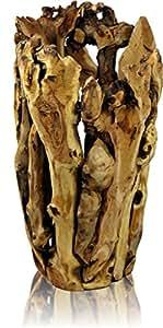 Amazon.de: rustikale Dekovase aus Wurzelholz groß natur