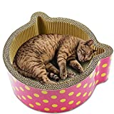 Wellpappe Katze Ohr Katze Kralle Bord Scratcher Bett Wellpappe Katzenohren geformt Cat Scratch Board Scratcher Pappe