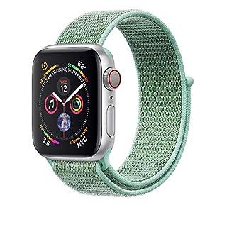 Corki für Apple Watch Armband 38mm 40mm, Weiches Nylon Ersatz Uhrenarmband für iWatch Apple Watch Series 4 (40mm), Series 3/ Series 2/ Series 1 (38mm), Marinegrün