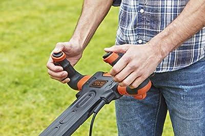 BLACK+DECKER Rasenmäher BEMW461ES-QS, 34cm, orange/schwarz