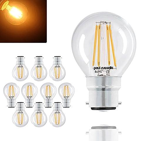 10x 4W = 40W G45B22Mini Globe LED Filament Glühbirne warm