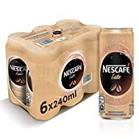 Nescafe Ready To Drink Latte Chilled Coffee 240ml (6 Cans)