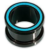 Fly Style® Silikon Plug Flesh-Tunnel Hollow Eye in vielen Farben & Größen st013, Grösse:10 mm;Farbwahl:blau