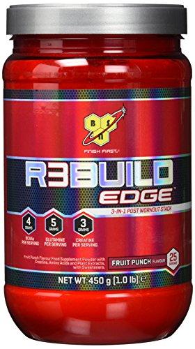 BSN REBUILD EDGE Post Workout Pulver (mit Aminosäuren: BCAA, Kreatin, Glutamin von BSN) fruit punch, 25 Portionen, 450g