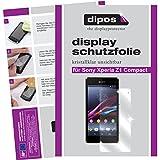 dipos I 2X Schutzfolie klar passend für Sony Xperia Z1 Compact Folie Displayschutzfolie