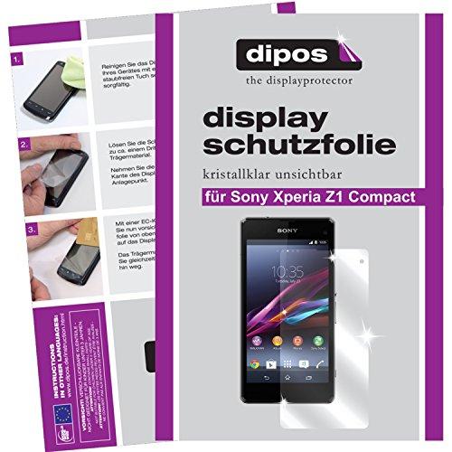 dipos I 2X Schutzfolie klar passend für Sony Xperia Z1 Compact Folie Bildschirmschutzfolie