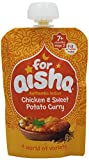 For Aisha Authentic Indian Chicken and Sweet Potato Curry, 130 g, Pack of 6