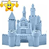 Gixmo Blue Colour 800 grams Magic Kinetic Motion Sand + 16 Toy For Kids Clay Replacement