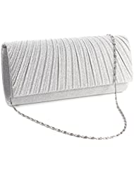 Anladia Femme Sac A Main Soiree Brillant Glitter Besace Pochette Party Prom bag