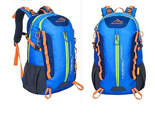 40L Backpack Outdoor Sports Large Kapazität Portable Nylon Oxford Rucksack Wandern Traveling Bergsteigen Multifunktion Double Schulter Tasche H32 x W50 x T22 cm Blue