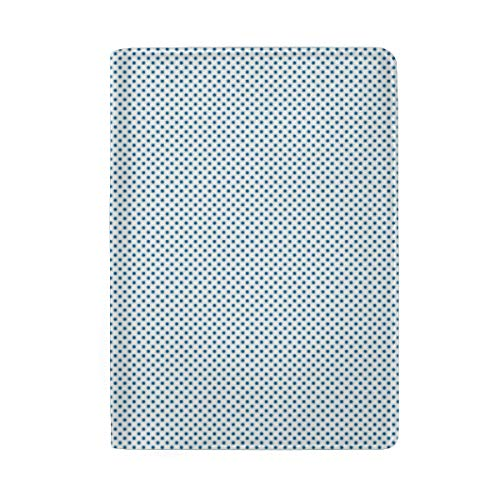 Mini Polka Dots Royal Blue Passport Holder Wallet Cover Case Leather Travel Wallet ID Card Case