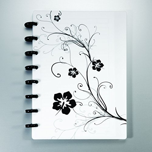 staples-arc-customizable-hibiscus-design-notebook-system-white-black-6-3-8-x-8-3-4-by-staples