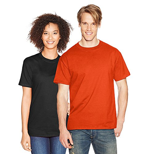 Hanes Mens Beefy-T Born to Be Worn 100% Cotton T-Shirt Orange