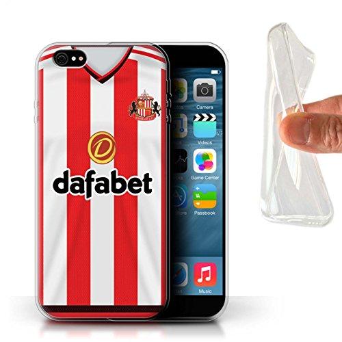 Offiziell Sunderland AFC Hülle / Gel TPU Case für Apple iPhone 6+/Plus 5.5 / Pack 24pcs Muster / SAFC Trikot Home 15/16 Kollektion Fußballer