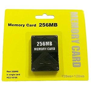 KOBWA 256MB Speicherkarte für Sony Playstation 2–High Speed PS232/128/256MB Konsole Spiel Memory Card, Schwarz