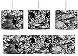 Monocrome, rote Krabbe auf Riff inkl. Lampenfassung E27, Lampe mit Motivdruck, tolle Deckenlampe, Hängelampe, Pendelleuchte - Durchmesser 30cm - Dekoration mit Licht ideal für Wohnzimmer, Kinderzimmer, Schlafzimmer