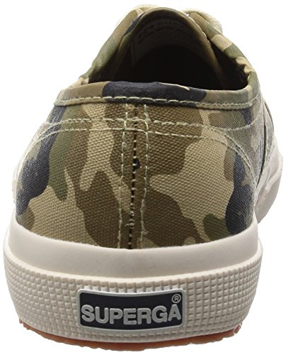 Superga 2750 Cotcamou, Herren Sneakers Dunkel Grün