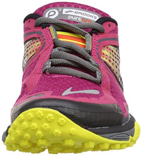 Brooks - Scarpe sportive - Running Puregrit 3 Women, Donna, Multicolore Multicoloree ( Sangria/Cherry Tomato/Buttercup)