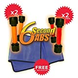 6 Second Abs Replacement Bands: 2 Pairs Red Bands + 2 Pairs Orange Bands + Free Waist Trimmer