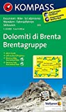 Dolomiti di Brenta - Brentagruppe: Wanderkarte mit Aktiv Guide, Radrouten und alpinen Skirouten. GPS-genau. Dt. /Ital. 1:25000 (KOMPASS-Wanderkarten, Band 73)