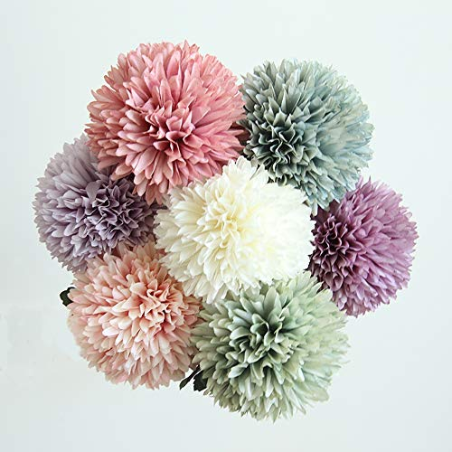 liche Blumen Löwenzahn-Blumenball, echte Touch Blumen für DIY Wedding Bouquets Centerpieces Arrangements Party Baby Shower Party Home Decorations,Burst ()