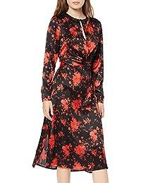 Amazon-Marke: find. Damen Midi-Blumenkleid mit A-Linie