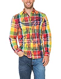 Desigual Trole - Chemise casual - Taille normale - Manches longues - Homme