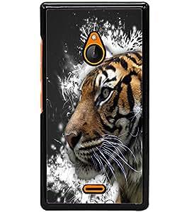 ColourCraft Tiger Look Design Back Case Cover for NOKIA XL