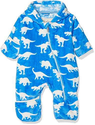 Hatley Fuzzy Fleece Baby Bundler Blouson, Bleu (Roaming Dinos), 24 Mois Bébé garçon
