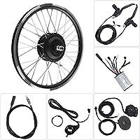 "Liukouu Kit de conversión de Bicicleta eléctrica, Motor de 36V/48V 350W Pantalla LED KT900S Kits de conversión de Bicicleta eléctrica de Rueda de 20""(Motor Delantero 36V 350W)"