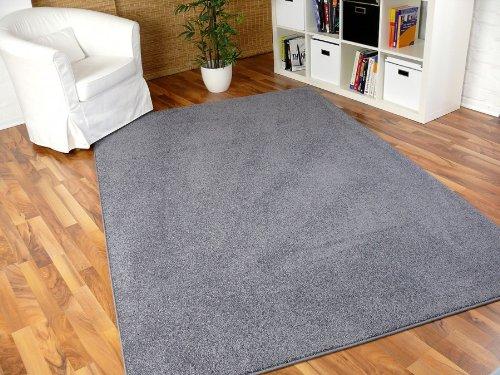 Hochflor Velours Teppich Triumph Grau in 24 Größen