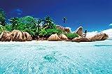 GREAT ART Secret Island en Agua cristalina paradisíaca fotomural de XXL póster decoración de Pared by (140 x 100 cm) m